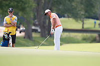 Rickie Fowler (USA) putts out on the 8th hole during the final round of the 100th PGA Championship at Bellerive Country Club, St. Louis, Missouri, USA. 8/12/2018.<br /> Picture: Golffile.ie | Brian Spurlock<br /> <br /> All photo usage must carry mandatory copyright credit (&copy; Golffile | Brian Spurlock)