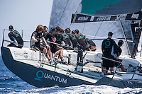 IBIZA, SPAIN - 1 JUL:  Quantum Racing in action during preview day of Royal Cup at Marina Ibiza on July 01st 2013 in Ibiza, Spain. Photo by Xaume Olleros / 52 Super Series