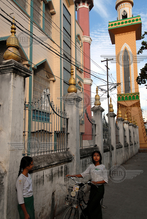 The modern Am Yauk Tan Mosque in central Mandalay.