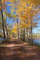 The towpath, Delaware and Raritan Canal State Park, New Jersey