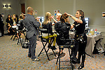 Models have their hair done backstage at the annual Houston Chronicle's Best Dressed Luncheon at the Westin Galleria Hotel Tuesday April 3, 2013.(Dave Rossman photo)