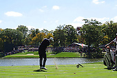 European Team Player Nicolas Colsaerts (ENG) tees off the par3 2nd tee during Sunday's Singles Matches of the 39th Ryder Cup at Medinah Country Club, Chicago, Illinois 30th September 2012 (Photo Colum Watts/www.golffile.ie)