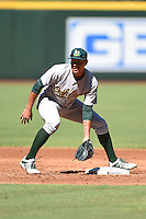 Oakland Athletics infielder Edwin Diaz (8) during practice before an Instructional League game against the Arizona Diamondbacks on October 10, 2014 at Chase Field in Phoenix, Arizona.  (Mike Janes/Four Seam Images)