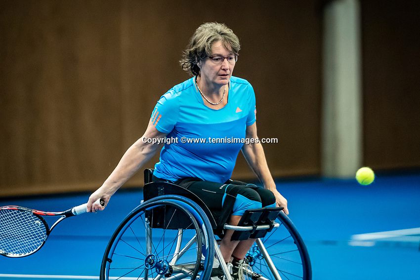 Alphen aan den Rijn, Netherlands, December 18, 2019, TV Nieuwe Sloot,  NK Tennis, Wheelchair womans doubles:  and Marlise Peters (NED) 	 <br /> Photo: www.tennisimages.com/Henk Koster