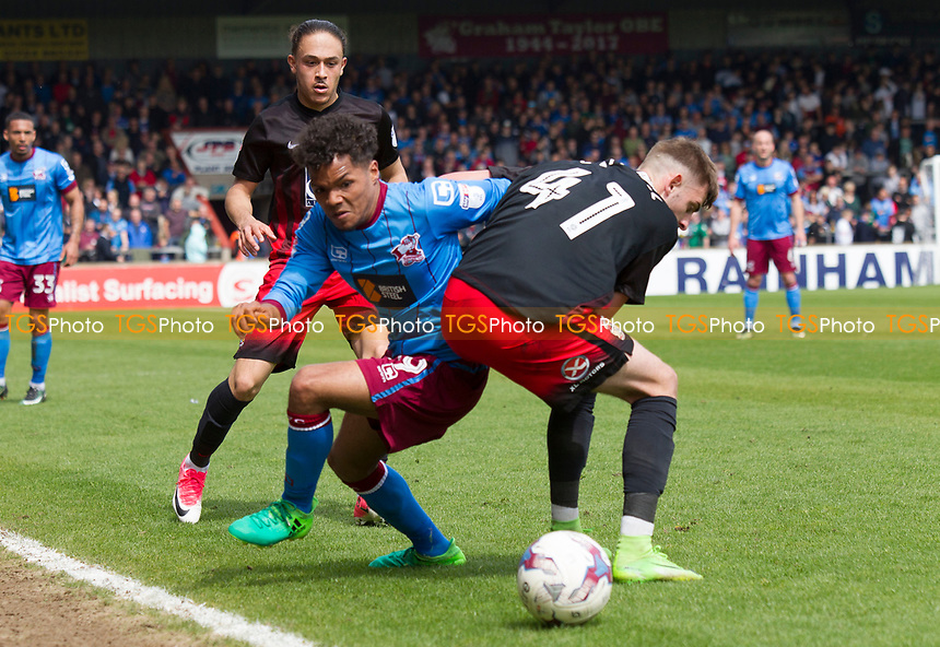 Duane Holmes of Scunthorpe during Scunthorpe United vs Coventry City, Sky Bet EFL League 1 Football at Glanford Park on 30th April 2017