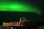 FISHING BOAT AND THE NORTHERN LIGHTS,  'Aurora borealis' CHURCHILL, MANITOBA, CANADA
