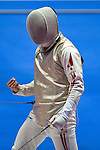 Suguru Awaji (JPN),<br /> AUGUST 9, 2013 - Fencing :<br /> World Fencing Championships Budapest 2013, Men's Individual Foil Round of 64 at Syma Hall in Budapest, Hungary. (Photo by Enrico Calderoni/AFLO SPORT) [0391]
