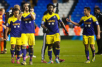 Saturday 25 January 2014<br /> Pictured: Swansea Players Applayd the Fans <br /> Re: Birmingham City v Swansea City FA Cup fourth round match at St. Andrew's Birimingham