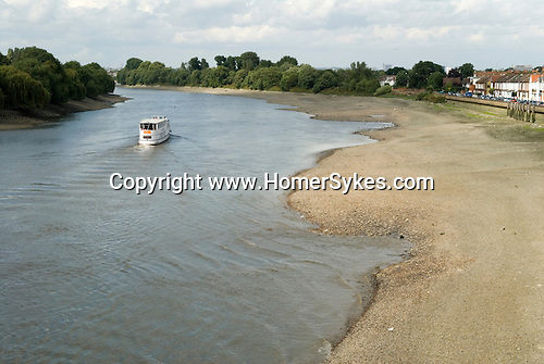 River Thames low tide at Barnes southwest London Uk.
