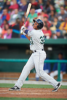 Cedar Rapids Kernels first baseman Jorge Fernandez (32) at bat during a game against the South Bend Cubs on June 5, 2015 at Four Winds Field in South Bend, Indiana.  South Bend defeated Cedar Rapids 9-4.  (Mike Janes/Four Seam Images)