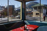 CAPE TOWN, SOUTH AFRICA - JULY 23:  A diner in Cape Town, South Africa.  (Photo by Landon Nordeman) ..