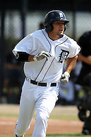 Detroit Tigers minor league third baseman Nick Castellanos (44) vs. the Philadelphia Phillies during an Instructional League game at Tiger Town in Lakeland, Florida;  October 12, 2010.  Photo By Mike Janes/Four Seam Images