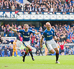 Kenny Miller and Jordan Rossiter celebate the winner