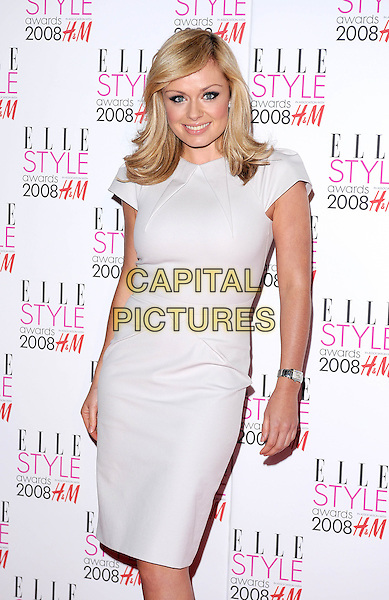 KATHERINE JENKINS.attending the Elle Style Awards 2008, The Westway, London, England,.12th February 2008..half length cream white dress.CAP/BEL.?Tom Belcher/Capital Pictures