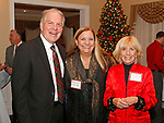 Waterbury, CT 120717MK10 (from left) Douglas Kenyon, Dianne Haggis and Janice Paul gathered for the Waterbury Youth Services, Inc. Santa's Workshop at The Country Club of Waterbury. The event helps raise funds to make the holiday season memorable for children in need Michael Kabelka / Republican-American