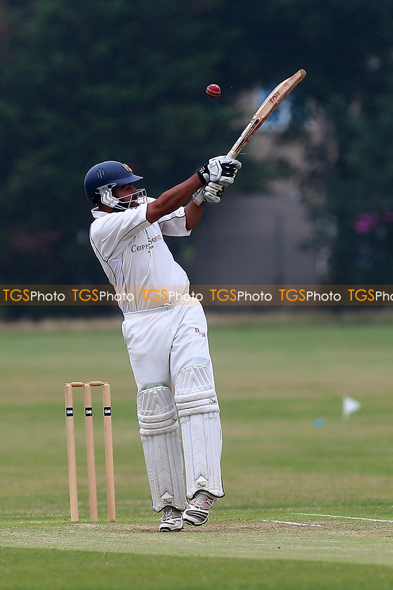 I Shah in batting action for Hainault during Hainault and Clayhall CC (batting) vs Oakfield Parkonians CC, Shepherd Neame Essex League Cricket at the Jack Carter Pavilion on 15th July 2017