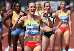 Jenny Simpson of the USA celebrates after winning the Women's 1500 meters on the final day of the Prefontaine Classic at Hayward Field in Eugene, Oregon, USA, 30 MAY 2015. (EPA photo by Steve Dykes)