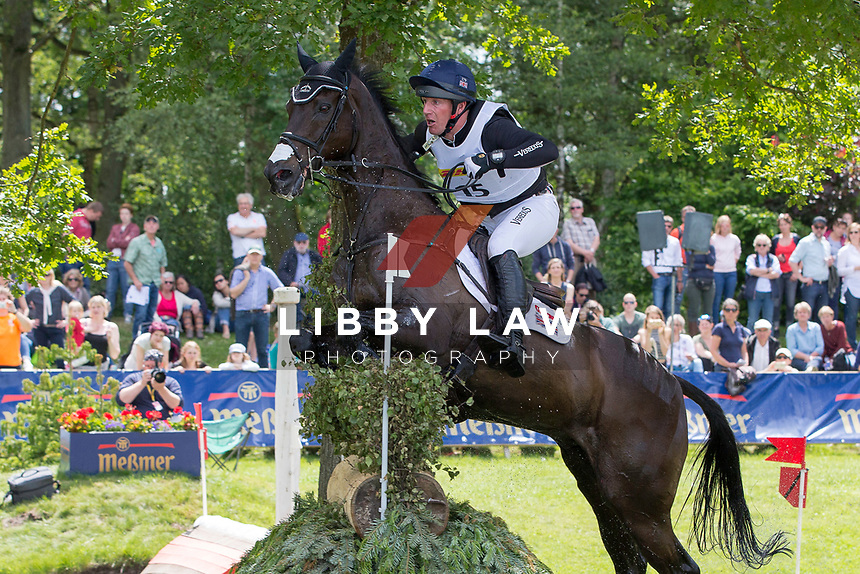 GBR-Oliver Townend rides Black Tie during the Cross Country for the CCI4* - Presented by DHL, at the 2017 Luhmühlen International Horse Trial. Saturday 17 June. Copyright Photo: Libby Law Photography
