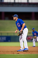 AZL Cubs first baseman Marcus Mastrobuoni (5) on defense during a game against the AZL Brewers on August 6, 2017 at Sloan Park in Mesa, Arizona. AZL Cubs defeated the AZL Brewers 8-7. (Zachary Lucy/Four Seam Images)
