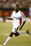 2 October 2004: Freddy Adu celebrates after scoring the only goal of the game in the 16th minute. DC United defeated the MetroStars 1-0 at Giants Stadium in East Rutherford, NJ during a regular season Major League Soccer game...