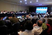 """MEX10. CANCÚN (MÉXICO), 19/06/2017.- Vista general hoy, lunes 19 de junio de 2017, durante de la 29ª Reunión de Consulta de Ministros de Relaciones Exteriores previo a la inauguración de la 47 Asamblea General de la Organización de Estados Americanos (OEA), en Cancún, en el estado de Quintana Roo (México). La ministra de Relaciones Exteriores de Venezuela, Delcy Rodríguez, dijo hoy que el país caribeño no """"va a avalar"""" la resolución que surja sobre la nación de la reunión de cancilleres celebrada en el marco de la 47 Asamblea General de la OEA. """"Nosotros no reconocemos esta reunión, como tampoco reconocemos la resulta que de ella devenga. (...) Indistintamente de lo que de aquí salga, Venezuela no lo va a avalar"""", apuntó la canciller ante el resto de representantes de los países miembros de la OEA. EFE/Mario Guzmán"""