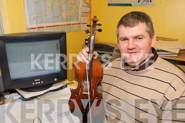 MUSIC MAKER: Peter Mullarkey from Ballinskelligs who is involved in the Binneas Project in South West Kerry.