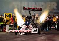 Jun 15, 2018; Bristol, TN, USA; NHRA top fuel driver Steve Torrence during qualifying for the Thunder Valley Nationals at Bristol Dragway. Mandatory Credit: Mark J. Rebilas-USA TODAY Sports