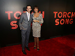 """Michael Urie and Mercedes Ruehl  attends the Broadway Opening Night After Party for """"Torch Song"""" at Sony Hall on November 1, 2018 in New York City."""
