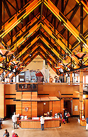 Interior of new (circ 2008) Henry M Jackson Visitor Center, Paradise, Mount Rainier National Park, Washington, USA