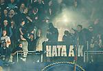 Stockholm 2015-05-25 Fotboll Allsvenskan Djurg&aring;rdens IF - AIK :  <br /> Djurg&aring;rdens supportrar med en banderoll under matchen mellan Djurg&aring;rdens IF och AIK <br /> (Foto: Kenta J&ouml;nsson) Nyckelord:  Fotboll Allsvenskan Djurg&aring;rden DIF Tele2 Arena AIK Gnaget supporter fans publik supporters