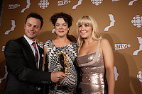 September 16 2012 - Montreal, Quebec, CANADA - Gemeaux Awards Gala - <br /> <br /> Louis Morissette,Helene Bourgeois Leclerc , Veronique Cloutier