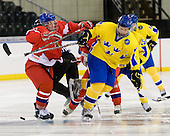 ?, Gabriel Landeskog (Sweden - 14) - Sweden defeated the Czech Republic 4-2 at the Urban Plains Center in Fargo, North Dakota, on Saturday, April 18, 2009, in their final match of the 2009 World Under 18 Championship.