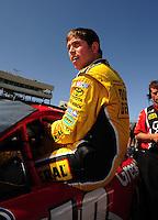 Apr 17, 2009; Avondale, AZ, USA; NASCAR Nationwide Series driver Brian Scott during qualifying prior to the Bashas Supermarkets 200 at Phoenix International Raceway. Mandatory Credit: Mark J. Rebilas-