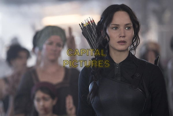 Jennifer Lawrence <br /> in The Hunger Games: Mockingjay - Part 1 (2014)<br /> *Filmstill - Editorial Use Only*<br /> CAP/NFS<br /> Image supplied by Capital Pictures