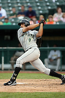 June 13th 2008:  Second Baseman Angel Cabrera of the Dayton Dragons, Class-A affiliate of the Cincinnati Reds, during a game at Stanley Coveleski Regional Stadium in South Bend, IN.  Photo by:  Mike Janes/Four Seam Images