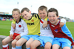 Shane O'Reilly, Karl Caffrey, Jamie O'Reilly and Reece Mullen as Italia 90 Legends Charity Game at United Park, Drogheda...(Photo credit should read Jenny Matthews www.newsfile.ie)....This Picture has been sent you under the conditions enclosed by:.Newsfile Ltd..The Studio,.Millmount Abbey,.Drogheda,.Co Meath..Ireland..Tel: +353(0)41-9871240.Fax: +353(0)41-9871260.GSM: +353(0)86-2500958.email: pictures@newsfile.ie.www.newsfile.ie.