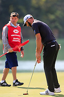 Dustin Johnson (USA) on the 18th green during the 3rd round at the WGC HSBC Champions 2018, Sheshan Golf CLub, Shanghai, China. 27/10/2018.<br /> Picture Fran Caffrey / Golffile.ie<br /> <br /> All photo usage must carry mandatory copyright credit (&copy; Golffile | Fran Caffrey)