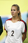 06 August 2008: Heather Mitts (USA).  The women's Olympic team of Norway defeated the United States women's Olympic soccer team 2-0 at Qinhuangdao Olympic Center Stadium in Qinhuangdao, China in a Group G round-robin match in the Women's Olympic Football competition.
