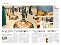 Swedish daily Dagens Nyheter<br /> January 10, 2009<br /> Photographer: Vaclav Vasku