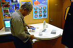(FILE) A man measures various substances for radiation at an educational display inside the visitors' center at Hamaoka Nuclear Power Plant in Omaezaki, Shizuoka Prefecture, Japan in 2007. The subject of much controversy, the Hamaoka nuclear facility is built directly over the subduction zone near the junction of two tectonic plates. Photographer: Robert Gilhooly