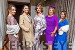 Models, Katriona Galvin, Robin O'Callaghan, Ann Kahraman, Marion Fitzgerald and Carla Holden getting ready back stage for the Fashion Show in aid of Kerry Hospice in the Rose Hotel on Thursday night.