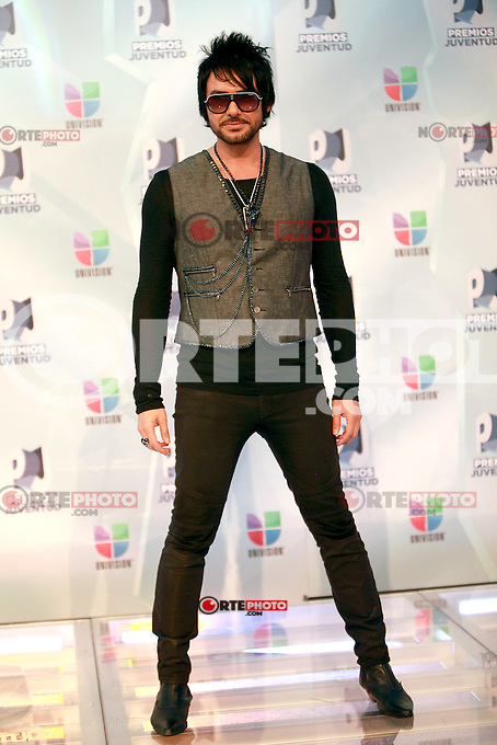 MIAMI, FL- July 19, 2012:  Beto Cuevas at the 2012 Premios Juventud at The Bank United Center in Miami, Florida. &copy;&nbsp;Majo Grossi/MediaPunch Inc. /*NORTEPHOTO.com*<br />