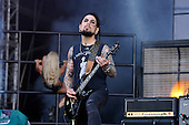 JANE'S ADDICTION - guitarist Dave Navarro - performing live on Day Three on the Encore Stage at Download Festival Donington Park UK - 12 Jun 2016.  Photo credit: Zaine :Lewis/IconicPix