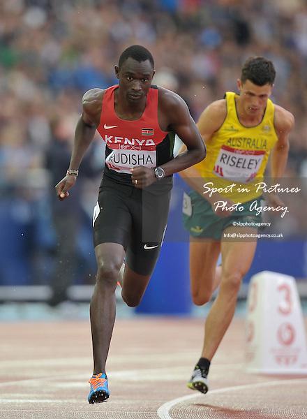 David Rudisha (KEN).Mens 800m.  Athletics. PHOTO: Mandatory by-line: Garry Bowden/SIPPA/Pinnacle - Tel: +44(0)1363 881025 - Mobile:0797 1270 681 - VAT Reg No: 183700120 - 310714 - Glasgow 2014 Commonwealth Games - Hampden Park, Glasgow, Scotland, UK