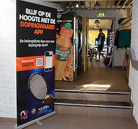 Netherlands, Dordrecht, August 03, 2015, Tennis,  National Junior Championships, NJK, TV Dash 35, dope banner<br /> Photo: Tennisimages/Henk Koster