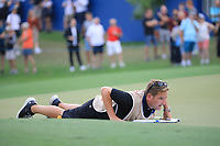 Jamie Lane, caddie for Bernd Wiesberger (AUT)) during the first round of the DP World Championship, Earth Course, Jumeirah Golf Estates, Dubai, UAE. 21/11/2019<br /> Picture: Golffile | Phil INGLIS<br /> <br /> <br /> All photo usage must carry mandatory copyright credit (© Golffile | Phil INGLIS)