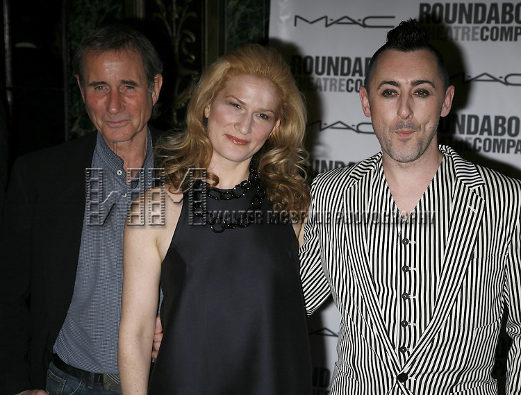 Jim Dale, Ana Gasteyer and Alan Cummings.attending the Opening Night after party for the Roundabout Theatre Company's Broadway production of THE THREEPENNY OPERA at Studio 54 in New York City.. April 20, 2006. © Walter McBride/WM Photography