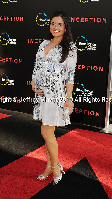 """HOLLYWOOD, CA. - July 13: Danica McKellar arrives to the """"Inception"""" Los Angeles Premiere at Grauman's Chinese Theatre on July 13, 2010 in Hollywood, California."""