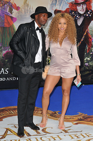 Tiggs Da Author &amp; Imani at the &quot;Alice Through The Looking Glass&quot; European film premiere, Odeon Leicester Square cinema, Leicester Square, London, England, UK, on Tuesday 10 May 2016.<br /> CAP/CAN<br /> &copy;CAN/Capital Pictures /MediaPunch ***NORTH AMERICA AND SOUTH AMERICA ONLY***
