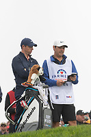25th January 2020, Torrey Pines, La Jolla, San Diego, CA USA;  Rory McIlroy and his caddie check his notes during round 3 of the Farmers Insurance Open at Torrey Pines Golf Club on January 25, 2020